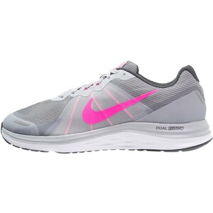 Nike Performance DUAL FUSION X 2 Chaussures de running neutres wolf grey/pink blast/anthracite/white