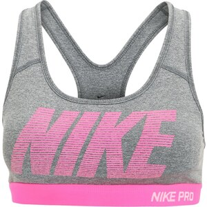 Nike Performance PRO CLASSIC Soutiengorge de sport dark grey/heather/hyper pink