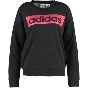 adidas Performance ESSENTIALS LINEAR Sweatshirt black melange/joy