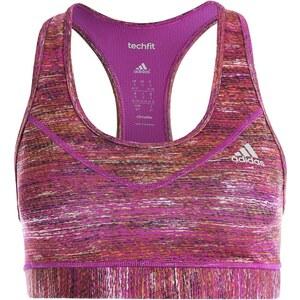 adidas Performance TECH FIT Soutiengorge de sport shock purple/metallic silver