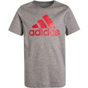 adidas Performance ESSENTIALS Tshirt de sport core heather/vivid red
