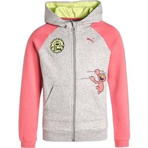Puma Sweat zippé grau/rosa