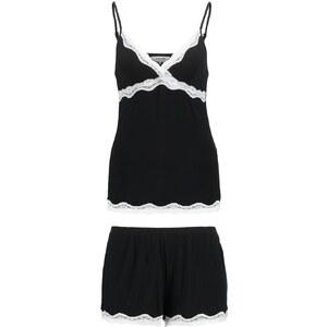 Zalando Essentials Pyjama black/offwhite