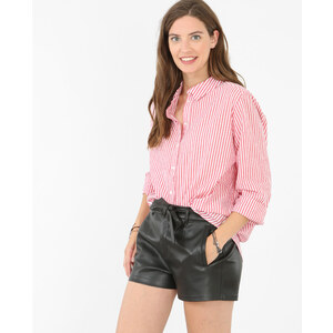 Chemise popeline rayée rouge, Femme, Taille L -PIMKIE- MODE FEMME