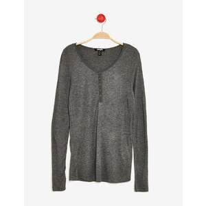 tee-shirt manches longues gris anthracite chiné Jennyfer