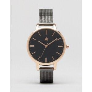 ASOS - Montre à bracelet maille - Trou noir/gris foncé - Multi