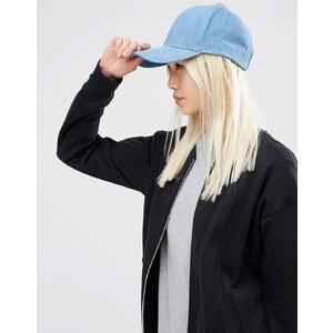 ASOS - Baseball-Kappe aus Denim - Blau