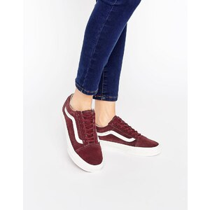 Vans Burgundy Old Skool Trainers - Rouge