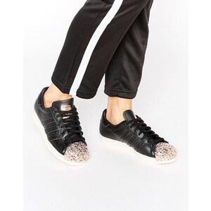 adidas Originals - Superstar - Baskets avec bout renforcé en métal cuivré - Noir - Noir