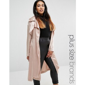 Missguided Plus - Trench-coat en satin - Violet