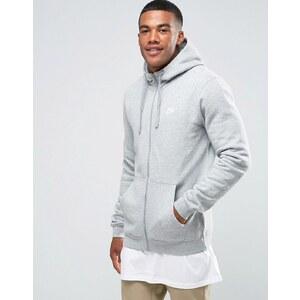 Nike - 804389-063 - Sweat à capuche zippé avec logo futuriste - Gris - Gris