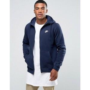 Nike - 804389-451 - Sweat à capuche zippé avec logo futuriste - Bleu marine - Bleu marine