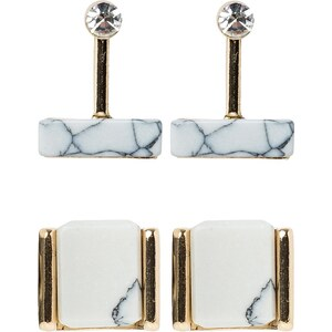 Topshop HOWLITE 2 PACK Boucles d'oreilles goldcoloured