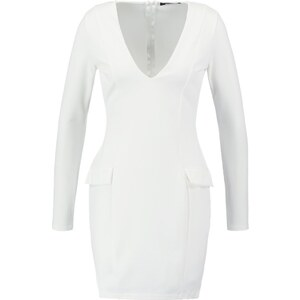 Missguided Robe fourreau white