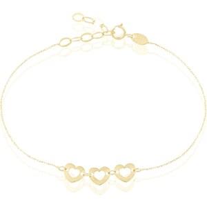 Histoire d'Or Bracelet coeurs en or - jaune