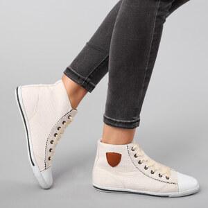 Lesara High-Top-Sneaker mit Satin-Schnürsenkeln - 36