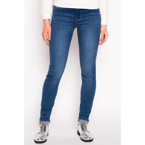Jean skinny used avec ceinture Bleu Elasthanne - Femme Taille 34 - Cache Cache