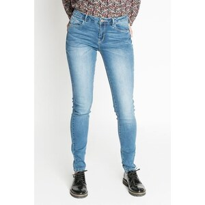 Jean slim Bleu Polyester - Femme Taille 34 - Cache Cache