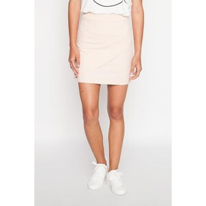Jupe avant asymétrique unie Beige Polyester - Femme Taille 36 - Cache Cache