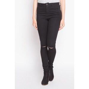 Pantalon skinny uni Noir Polyester - Femme Taille 34 - Cache Cache