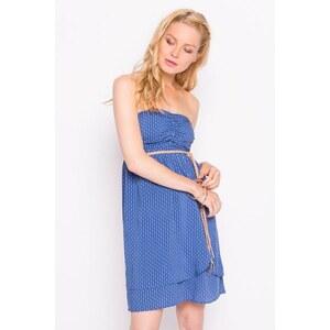 Robe bustier motif fleurs Bleu Viscose - Femme Taille 36 - Cache Cache