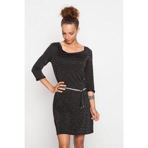 robe chaude support mouliné Noir Polyester - Femme Taille 34 - Cache Cache