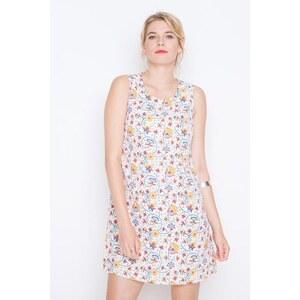 Robe droite imprimé fantaisie Blanc Polyester - Femme Taille 40 - Cache Cache