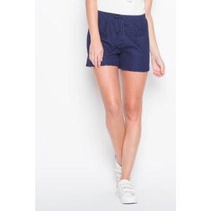 Short dentelle motif géométrique Bleu Polyester - Femme Taille 34 - Cache Cache
