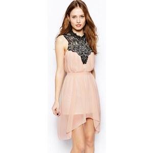 Club L – Swing-Kleid mit Häkelborte