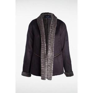 Manteau femme imitation fourrure Noir Polyester - Femme Taille L - Bonobo