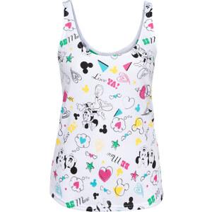 Disney Top avec imprimé Mickey Mouse blanc sans manches femme - bonprix