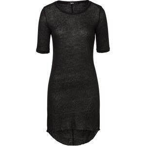 Tigha NELIA Leinen-Shirt in Schwarz