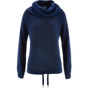 bpc bonprix collection Pull avec cordon coulissé bleu manches longues femme - bonprix