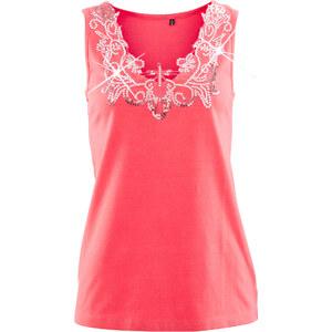 bpc selection Top figurbetont in pink (V-Ausschnitt) für Damen von bonprix