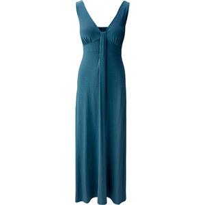 BODYFLIRT Maxi-Shirtkleid ohne Ärmel in blau von bonprix