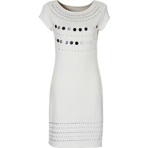 BODYFLIRT Shirtkleid/Sommerkleid kurzer Arm in weiß (Rundhals) von bonprix