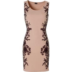 BODYFLIRT Kleid mit Blumenprint ohne Ärmel in natur von bonprix