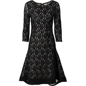 Kleid 3/4 Arm in schwarz von bonprix