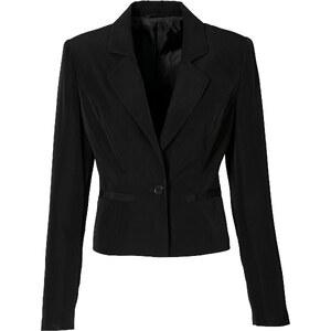 BODYFLIRT Blazer langarm figurbetont in schwarz (V-Ausschnitt) für Damen von bonprix