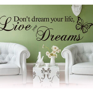 Lesara Wandtattoo Ambiente - Live your dreams