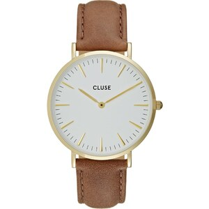 Cluse LA BOHÈME Montre goldcoloured/white/brown