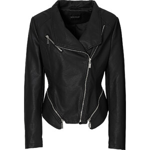 BODYFLIRT Lederimitat-Jacke in schwarz für Damen von bonprix