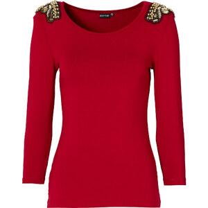 BODYFLIRT 3/4 Arm Shirt in rot für Damen von bonprix