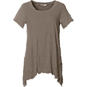 bpc bonprix collection Crinkle-Longshirt, kurzarm in rosa für Damen von bonprix