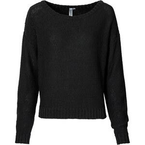 RAINBOW Pullover, verkürzt in schwarz für Damen von bonprix