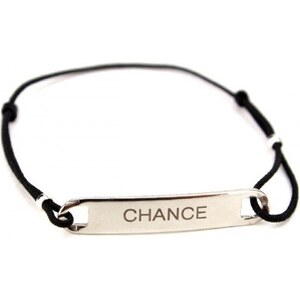 Bracelet message CHANCE Réglable - Cendriyon