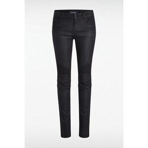 Pantalon femme skinny enduit Noir Coton - Femme Taille 34 - Bonobo