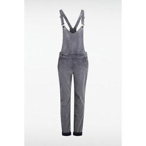 Salopette femme maille rayée 4 poches Beige Coton - Femme Taille 34 - Bonobo
