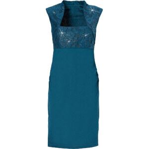 BODYFLIRT Shirtkleid/Sommerkleid ohne Ärmel figurbetont in grün von bonprix