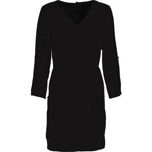 RAINBOW Kleid 3/4 Arm figurumspielend in schwarz (V-Ausschnitt) von bonprix